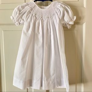 Petit Ami Dresses - White smocked dress. In perfect condition!